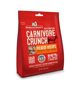 Stella & Chewy's Stella & Chewy's® Freeze Dried Raw Grain Free Carnivore Crunch Beef Recipe Dog Treats 3.25 Oz
