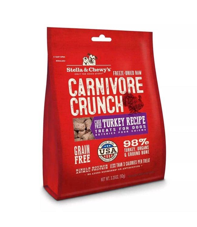 Stella & Chewy's® Stella & Chewy's® Freeze Dried Raw Grain Free Carnivore Crunch Turkey Recipe Dog Treats 3.25 Oz