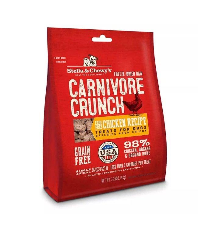 Stella & Chewy's® Stella & Chewy's® Freeze Dried Raw Grain Free Carnivore Crunch Chicken Recipe Dog Treats 3.25 Oz