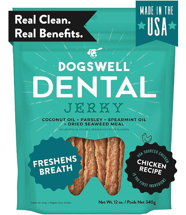 Dogswell Dogswell Jerky Dental Chicken 12 oz