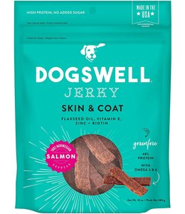 Dogswell Dogswell Jerky Skin & Coat Salmon 10 oz