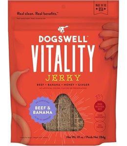 Dogswell Dogswell Jerky Vitality Beef & Banana 10 oz