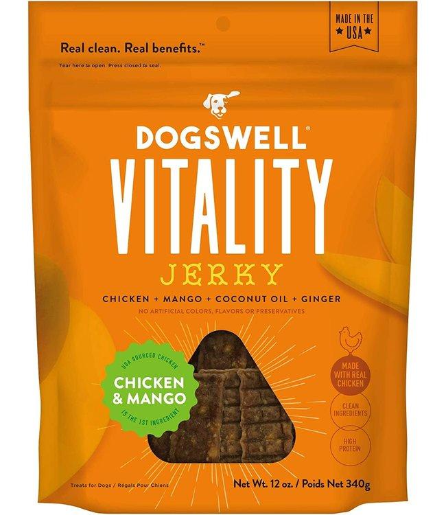 Dogswell Dogswell Jerky Vitality Chicken & Mango 12 oz