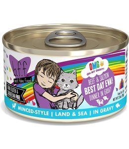 Weruva Weruva b.f.f. OMG Grain Free Beef & Salmon - Best Day Eva 2.8 oz Can