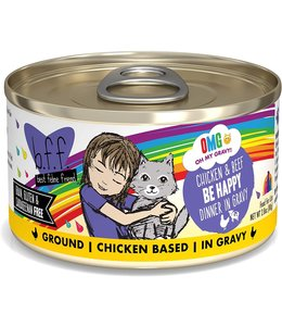 Weruva Weruva b.f.f. OMG Grain Free Chicken & Beef - Be Happy 2.8 oz Can