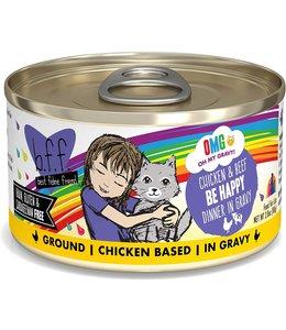 Weruva Weruva b.f.f. OMG Grain Free Chicken & Beef - Be Happy 2.8 oz Can