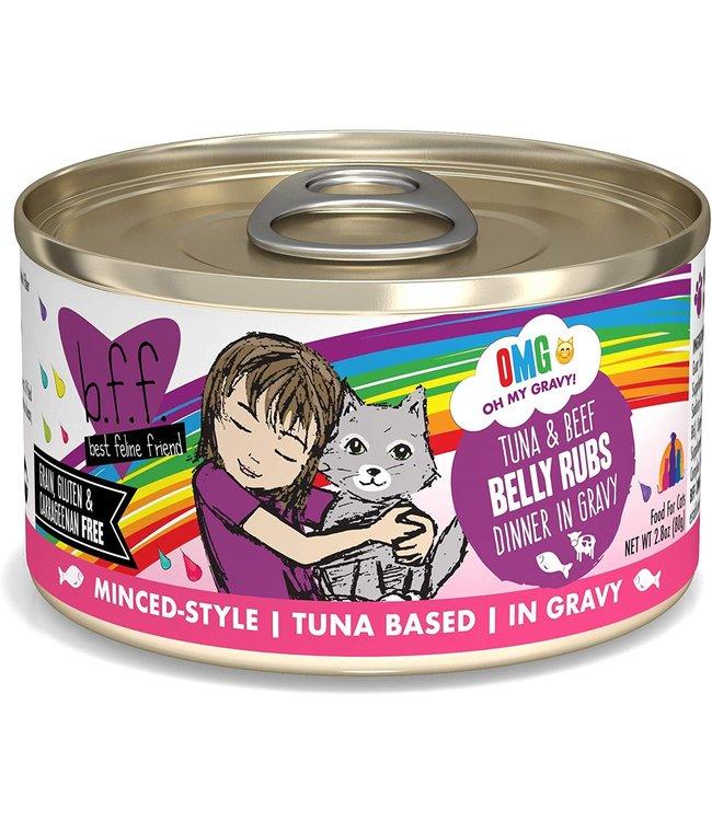 Weruva Weruva b.f.f. OMG Grain Free Tuna & Beef - Belly Rubs 2.8 oz Can
