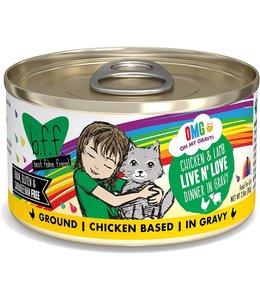 Weruva Weruva b.f.f. OMG Grain Free Chicken & Lamb - Live n' Love 2.8 oz Can