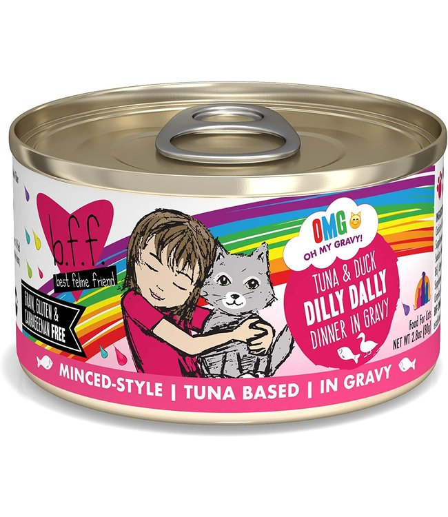 Weruva Weruva b.f.f. OMG Grain Free Tuna & Duck - Dilly Dally 2.8 oz Can