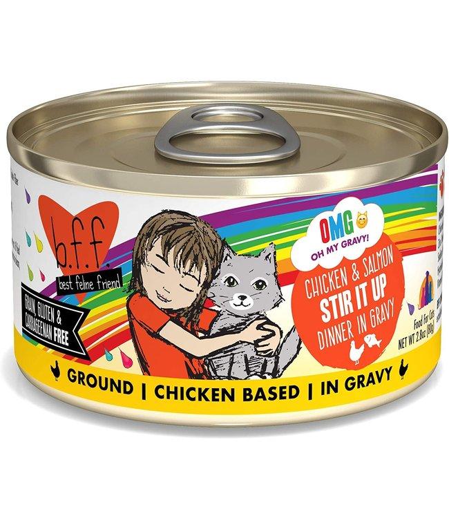 Weruva Weruva b.f.f. OMG Grain Free Chicken & Salmon - Stir It Up 2.8 oz Can