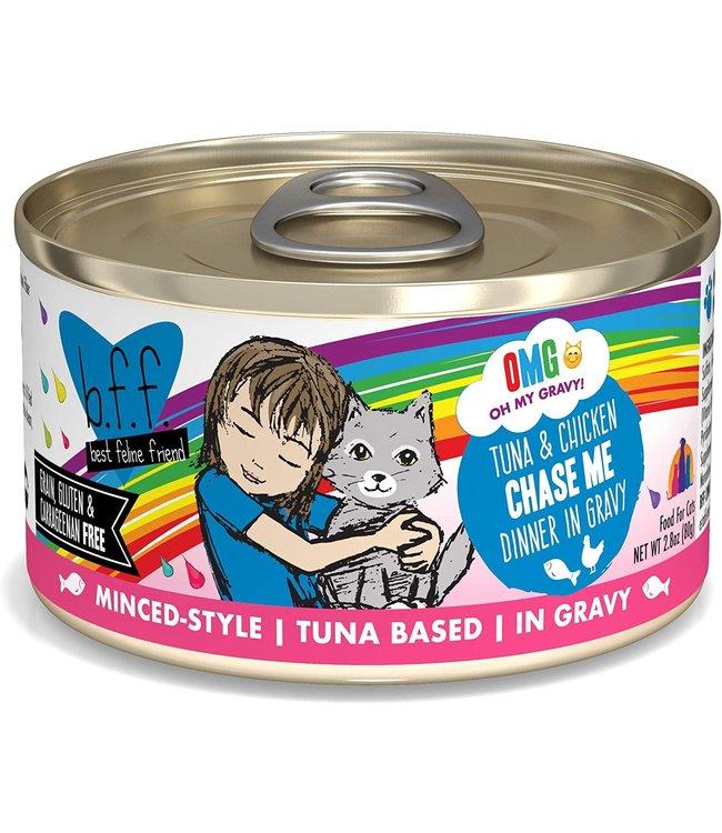Weruva Weruva b.f.f. OMG Grain Free Tuna & Chicken - Chase Me 2.8 oz Can