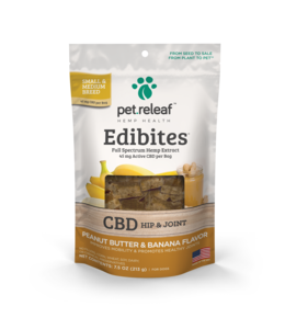 Pet Releaf Pet Releaf CBD Edibites® Hip & Joint Peanut Butter & Banana Sm/Med Breed 7.5 oz