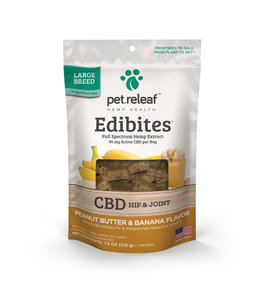 Pet Releaf Pet Releaf CBD Edibites® Hip & Joint Peanut Butter & Banana Large Breed 7.5 oz