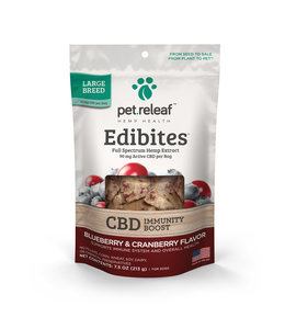 Pet Releaf Pet Releaf CBD Edibites® Immunity Blueberry & Cranberry Large Breed 7.5 oz
