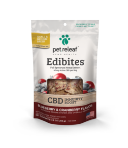 Pet Releaf Pet Releaf CBD Edibites® Immunity Blueberry & Cranberry Sm/Med Breed 7.5 oz