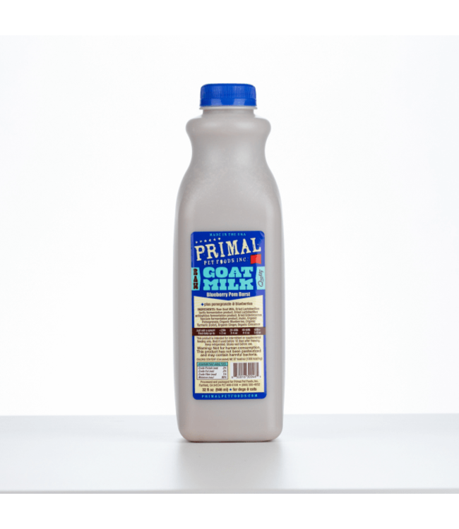 Primal Pet Foods Primal™ Raw Goat Milk Blueberry Pomegranate for Cat & Dog 32 Oz
