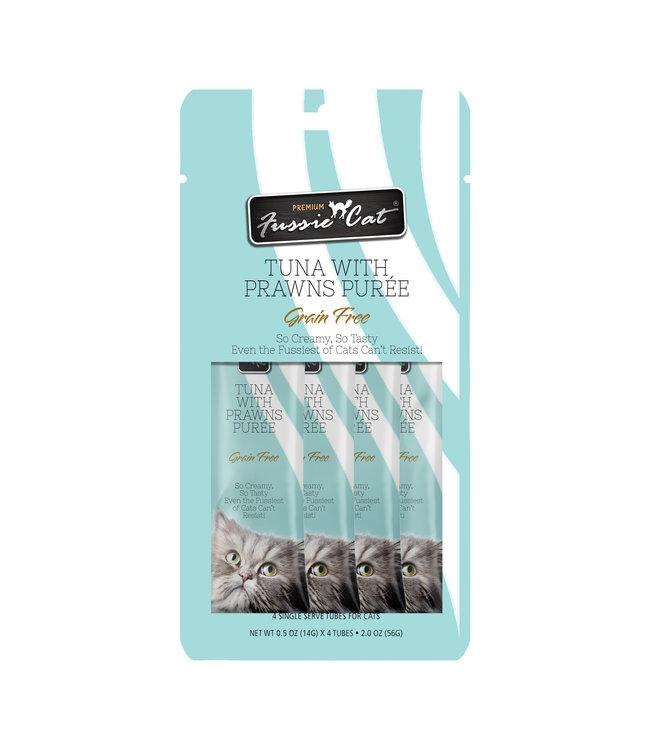 Fussie Cat Fussie Cat® Tuna Prawn Purée 4 Tubes .05 OZ Each
