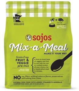 SOJOS Sojos Dog Food Mix-a-Meal Pre Mix Fruit & Veg 8 LB