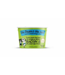 The Bear & the Rat Bear & Rat Frozen Yogurt Bacon & Peanut Butter 3.5 Oz (Single Cup)