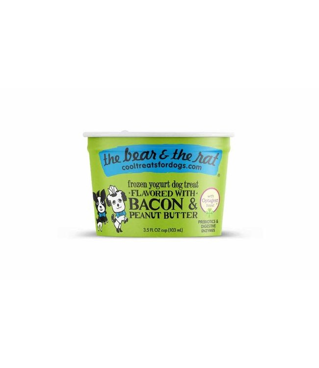 The Bear & the Rat Bear & Rat Frozen Yogurt Bacon & Peanut Butter 3.5 Oz (Single Cup)