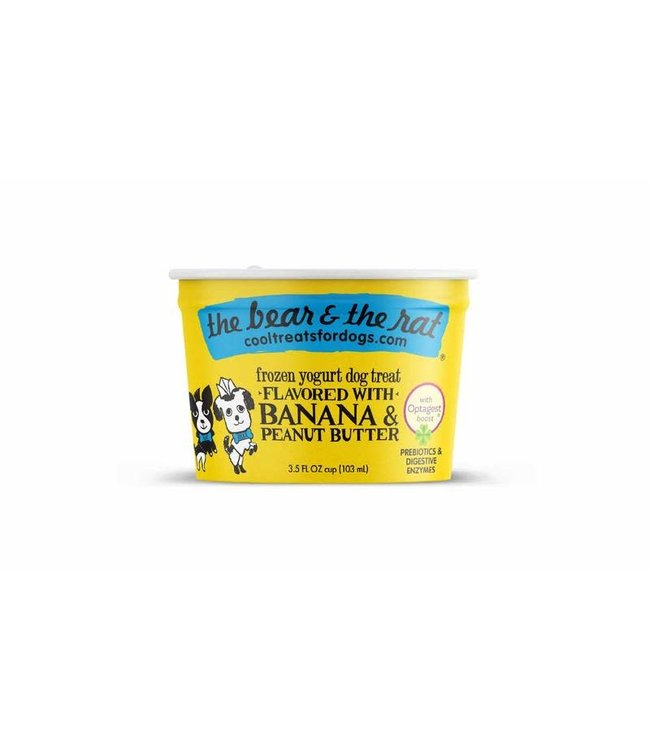 The Bear & the Rat Bear & Rat Frozen Yogurt Banana & Peanut Butter 3.5 Oz (Single Cup)