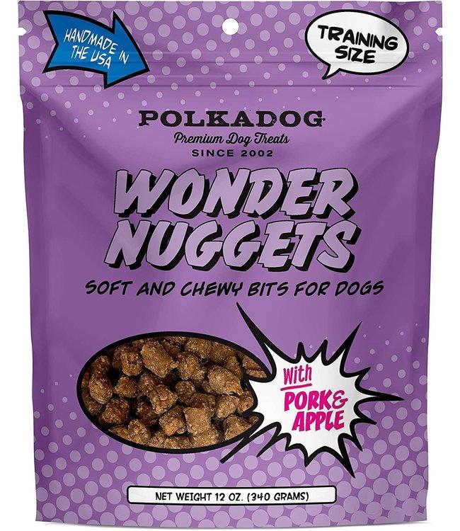 Polkadog Bakery PolkaDog Bakery Pouch Wonder Nuggets Pork & Apple 12 oz