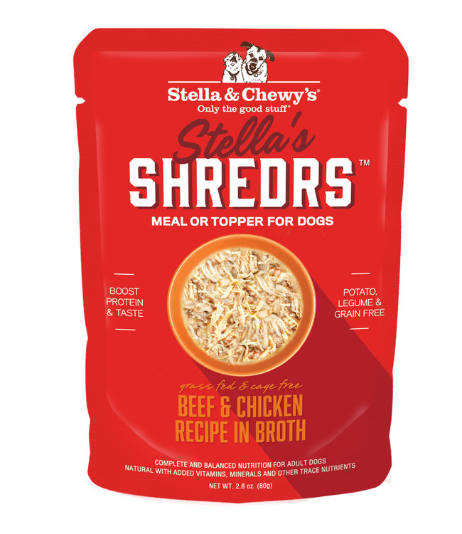Stella & Chewy's® Stella & Chewy's® Shredrs Beef & Chicken Recipe in Broth 2.8 oz