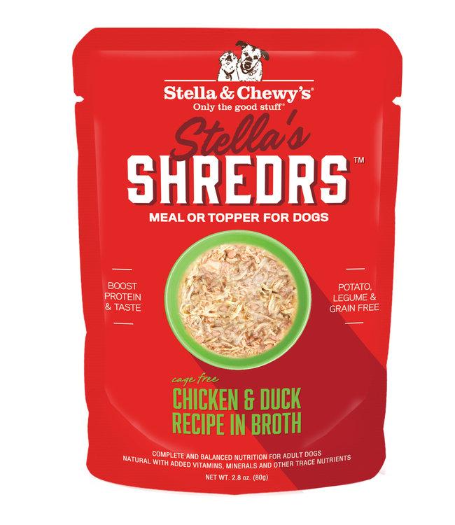 Stella & Chewy's® Stella & Chewy's® Shredrs Chicken & Duck Recipe in Broth 2.8 oz