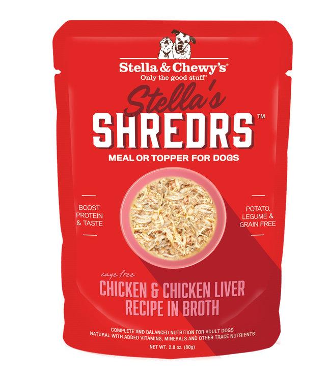 Stella & Chewy's® Stella & Chewy's® Shredrs Chicken & Chicken Liver Recipe in Broth 2.8 oz