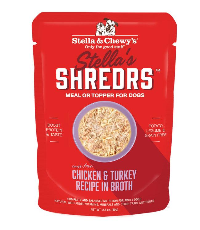Stella & Chewy's® Stella & Chewy's® Shredrs Chicken & Turkey Recipe in Broth 2.8 oz
