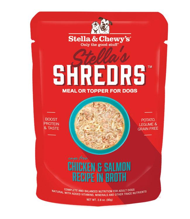 Stella & Chewy's® Stella & Chewy's® Shredrs Chicken & Salmon Recipe in Broth 2.8 oz