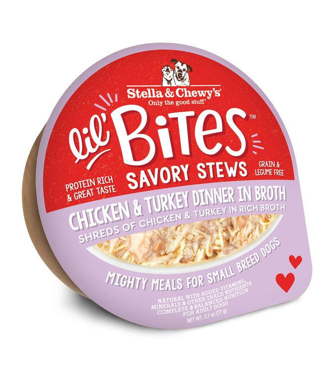 Stella & Chewy's® Stella & Chewy's® Lil Bites Stew Chicken & Turkey in Broth 2.7 oz