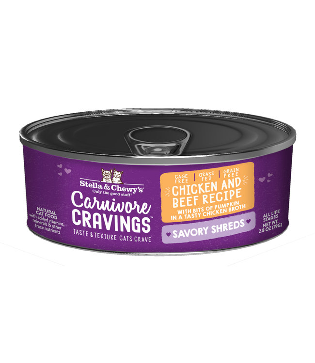 Stella & Chewy's® Stella & Chewy's® Cat Wet Carnivore Cravings Shreds Chicken & Beef 2.8 oz