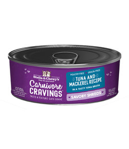 Stella & Chewy's® Stella & Chewy's® Cat Wet Carnivore Cravings Shreds Tuna & Mackerel 2.8 oz