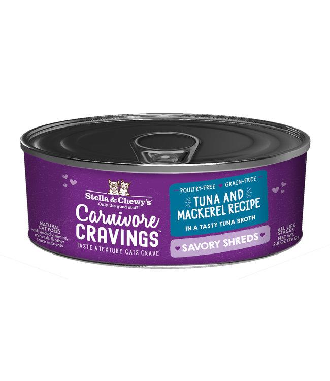Stella & Chewy's® Stella & Chewy's® Cat Wet Carnivore Cravings Shreds Tuna & Mackerel 2.8 oz