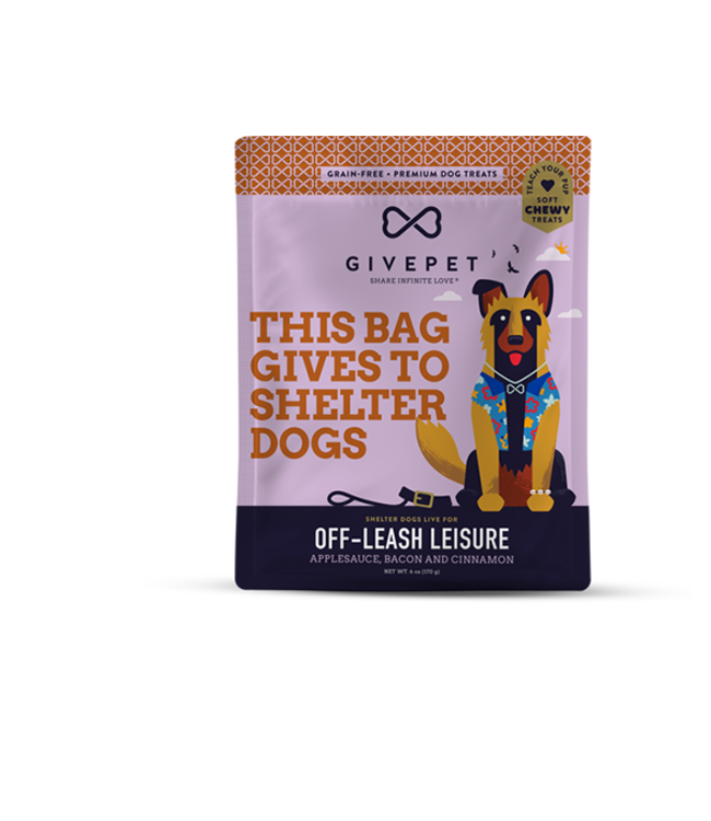 GivePet LLC Givepet Dog Treat Soft Chew Off Leash Leisure 6 oz