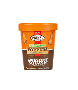 Primal Pet Foods Primal Frozen Fresh Toppers Awesome Squash Whole Food Supplement for Dogs & Cats