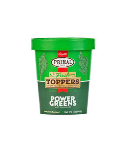 Primal Pet Foods Primal Frozen Power Greens Fresh Topper for Dogs & Cats