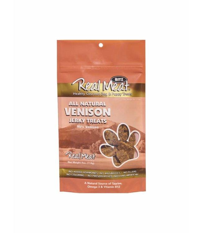 The Real Meat Company Real Meat Venison Jerky Treats 4oz