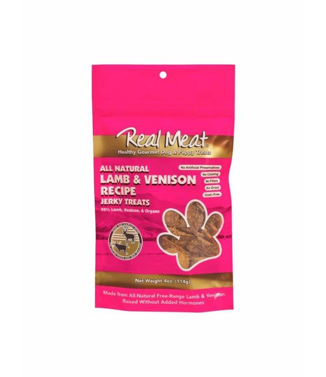The Real Meat Company Real Meat Lamb & Venison Jerky Treats 4oz
