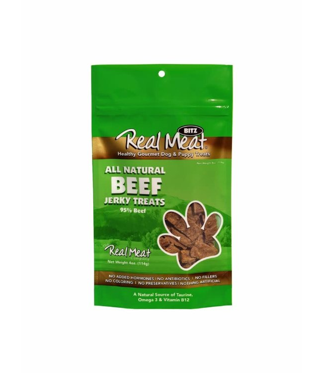 The Real Meat Company Real Meat Beef Jerky Treats 4oz