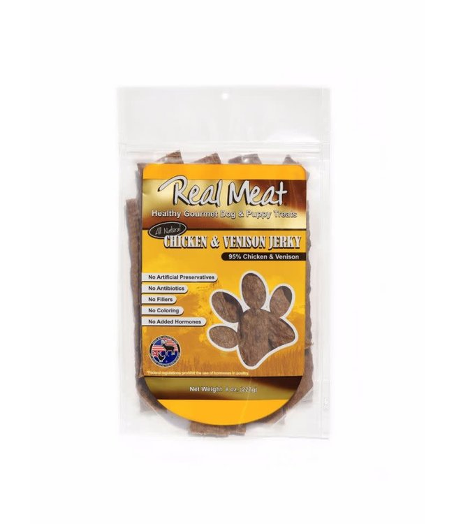 The Real Meat Company Real Meat Chicken & Venison Jerky Treats 8oz