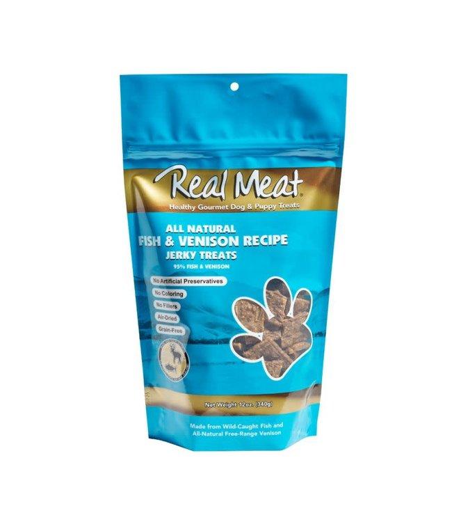 The Real Meat Company Real Meat Fish & Venison Jerky Treats 12oz
