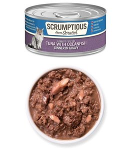 Scrumptious From Scratch Scrumptious Grain Free Tuna with Oceanfish - Dinner in Gravy 2.8 oz
