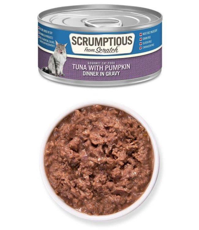 Scrumptious From Scratch Scrumptious Grain Free Tuna with Pumpkin - Dinner in Gravy 2.8 oz