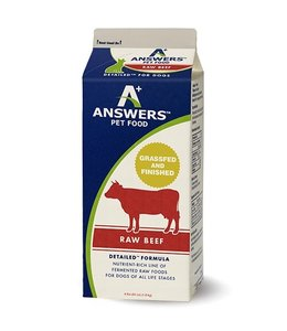 Answers Pet Food Answers Pet Food™ Detailed™ Complete & Balanced Diet Raw Frozen Beef 4 Lbs