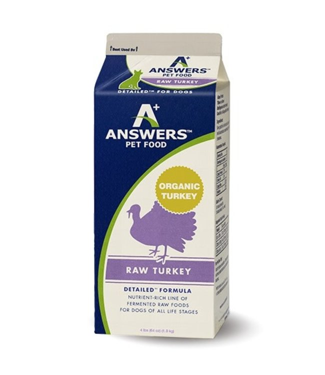 Answers Pet Food Answers Pet Food™ Detailed™ Complete & Balanced Diet Raw Frozen Turkey 4 Lbs