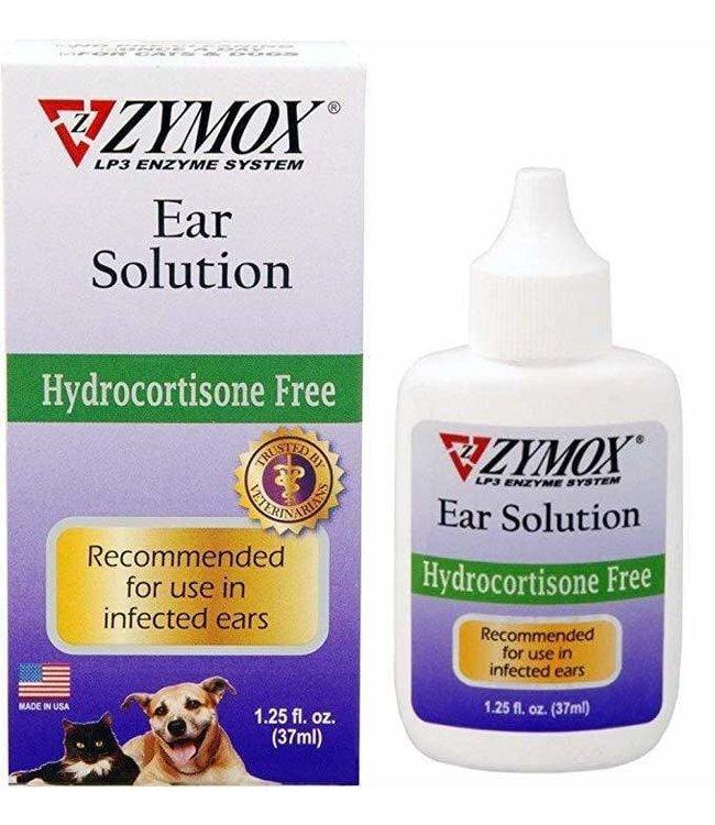 Zymox Ear Solution (Hydrocortisone Free) 1.25oz