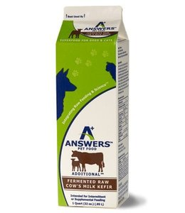Answers Pet Food Answers Raw Cow Kefir 1qt