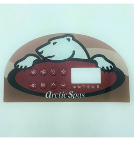 Blue Falls Manufacturing Overlay for TSC-14 Topside Control Pad - Gecko